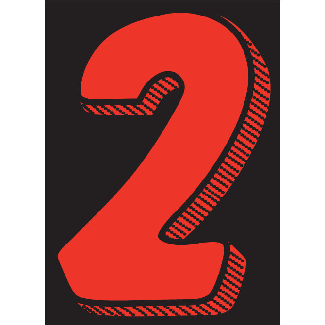 "Window Sticker - 7 1/2"" Red/Black #2 - Qty. 12"