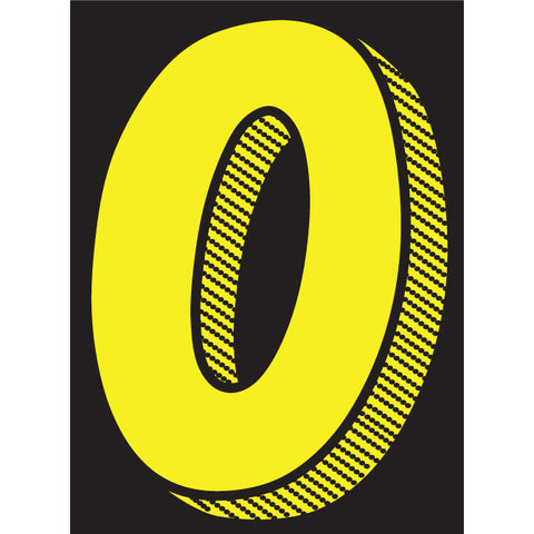 "Window Sticker - 7 1/2"" Yellow/Black - Qty. 12 - Independent Dealer Services"