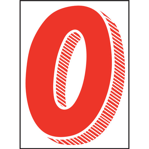 "Window Sticker - 7 1/2"" Red/White - Qty. 12 - Independent Dealer Services"