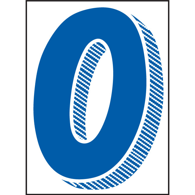 "Window Sticker - 7 1/2"" Blue/White - Qty. 12 - Independent Dealer Services"