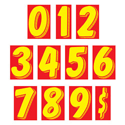 "Window Sticker - 11 1/2"" Yellow/Red - Qty. 12 - Independent Dealer Services"