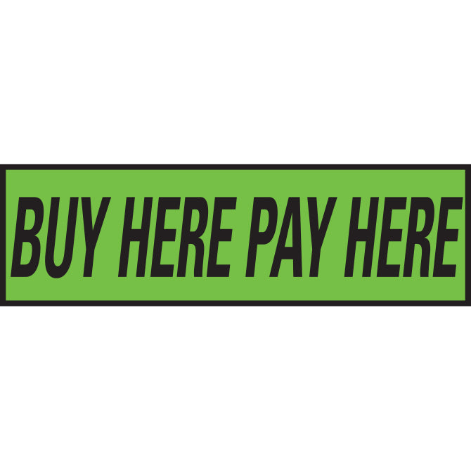 Flourescent Green & Black Slogan - Qty. 12 - Independent Dealer Services