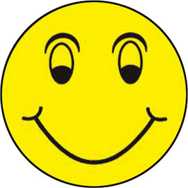 "Window Sticker - Happy Face - 6"" Diameter - Qty. 12 - Independent Dealer Services"
