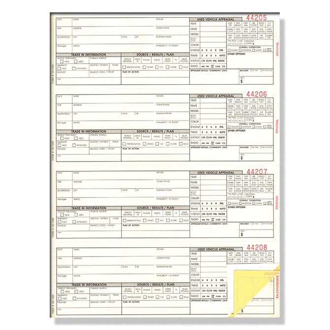 Guest Register Book - GR-1000 - 3 Part - Numbered - Qty. 1 - Independent Dealer Services