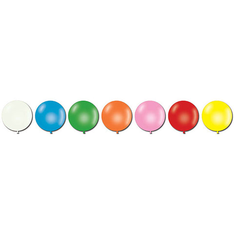 "Jumbo Latex Balloons - 17"" - Qty. 72 - Independent Dealer Services"