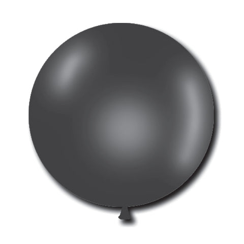 "Jumbo Crystal Latex Balloons - 17"" - Black (11741) - Qty. 72 - Independent Dealer Services"