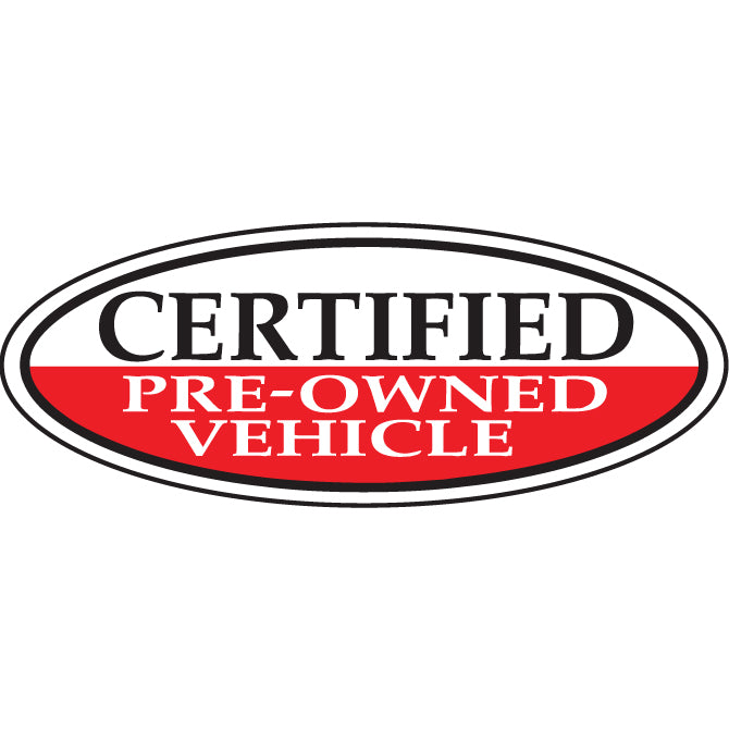 Window Sticker, Oval, Certified Pre Owned Vehicle  - Qty. 12 - Independent Dealer Services