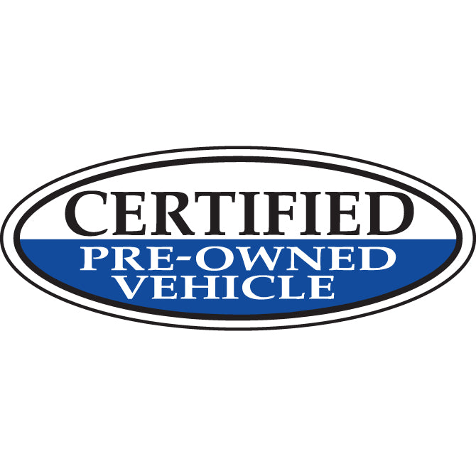 Window Sticker, Blue Oval, Certified Pre Owned Vehicle  - Qty. 12