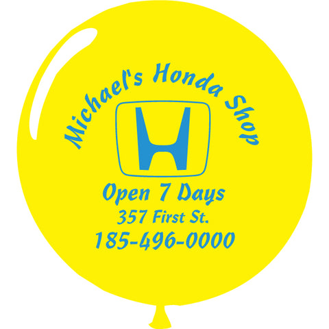"Jumbo Latex Balloons - 17"" - Custom Printed - Qty. 1 - Independent Dealer Services"
