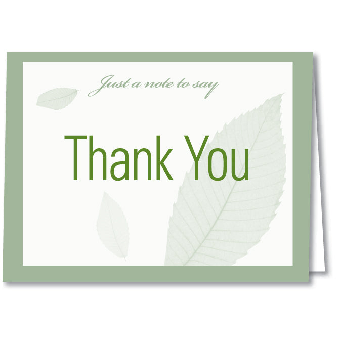 Thank You Card - Blank Inside - Qty. 50 - Independent Dealer Services