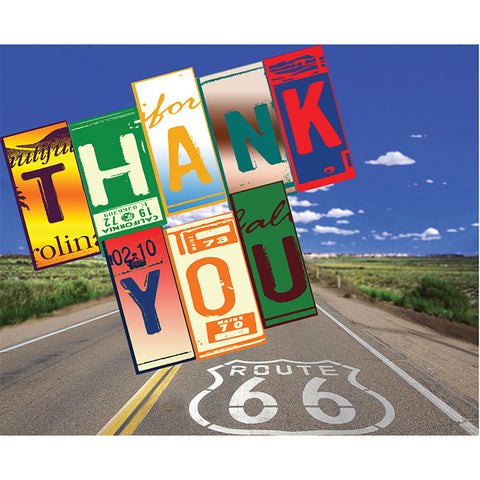 Thank You Card - Route 66 - Qty. 50 - Independent Dealer Services