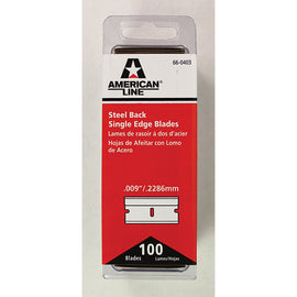 "Single Edge Razor Blades - .009""/.2286mm  - 100 Blades - Qty. 1 Bx - Independent Dealer Services"