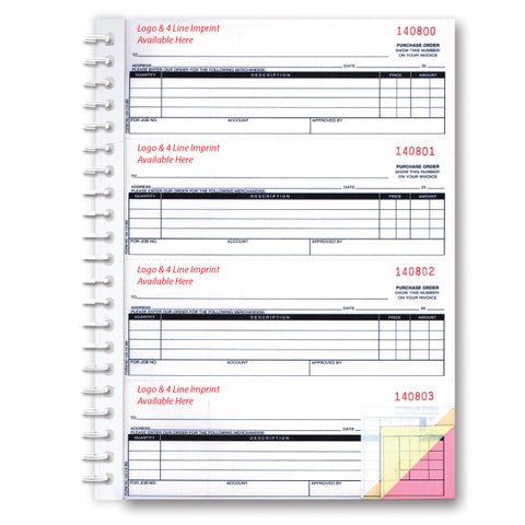 Purchase Order Book - NC-124-2 - 2 Part - Imprinted, 200 per Book - Independent Dealer Services