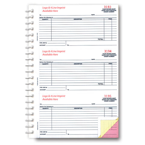 Purchase Order Book - DSA-127NC - 3 Part - Imprinted, 150 per Book. - Independent Dealer Services