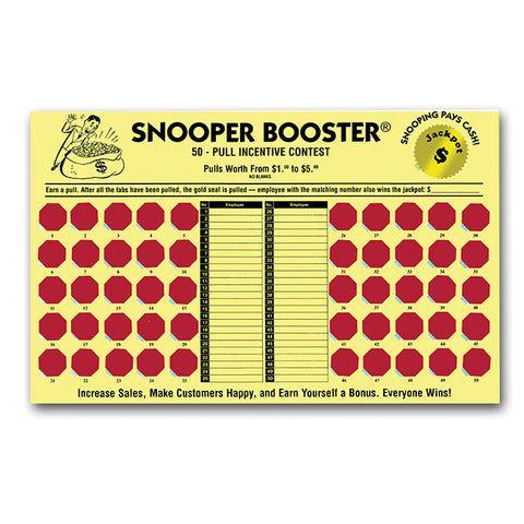 Incentive Cash Board - Snooper Booster - Yellow Board - Qty. 1 - Independent Dealer Services