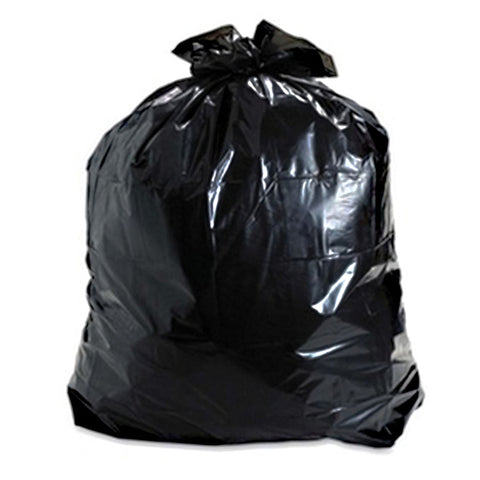 "Trash Bags - 55 Gallon Black - 38"" x  58"" - Qty. 100 (GCPCR-73) - Independent Dealer Services"