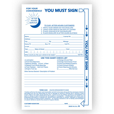 Night Drop Envelope, Standard  - NDE-STD - Qty. 100 - Independent Dealer Services