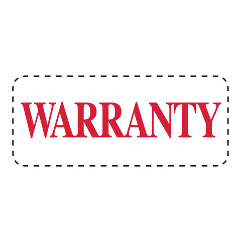 "Self Inking Stamp - WARRANTY - Red Ink, 3/4"" x 2 3/8"" - Qty. 1 - Independent Dealer Services"