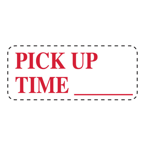 "Self Inking Stamp - PICK UP TIME - Red Ink, 3/4"" x 2 3/8"" -  Qty. 1 - Independent Dealer Services"