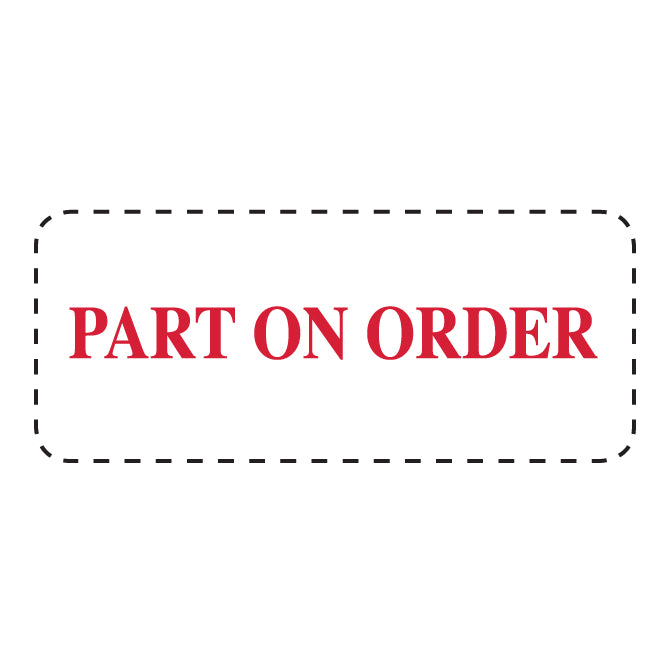 "Self Inking Stamp - PART ON ORDER - Red Ink, 3/4"" x 2 3/8"" - Qty. 1 - Independent Dealer Services"
