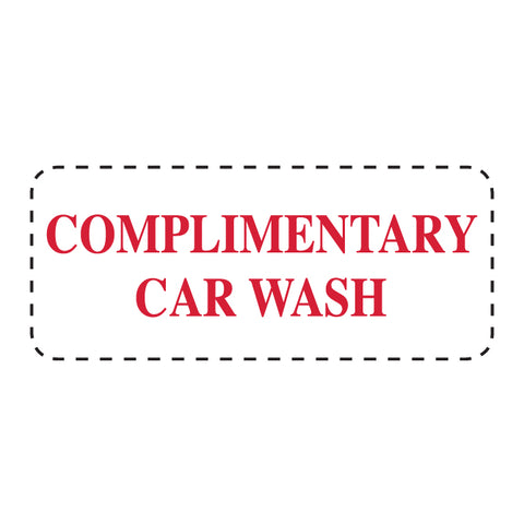 "Self Inking Stamp - COMPL. CAR WASH - Red Ink, 3/4"" x 2 3/8"" - Qty. 1 - Independent Dealer Services"