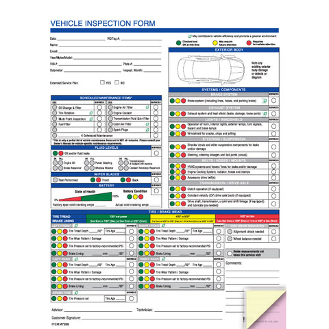 Multi-Point Vehicle Inspection Report (Eco) - 2 Part - Qty. 250 - Independent Dealer Services