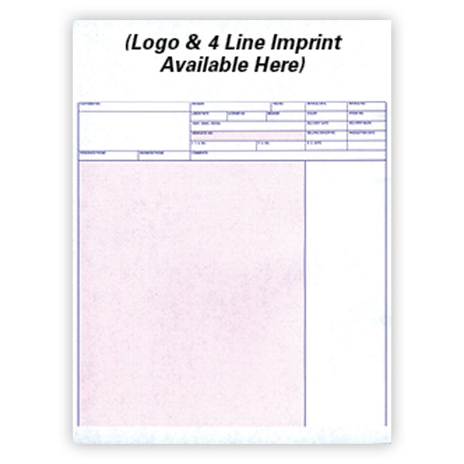 Laser Service Invoices - LZR-SI-11 - 20# - Imprinted - Qty. 500 - Independent Dealer Services