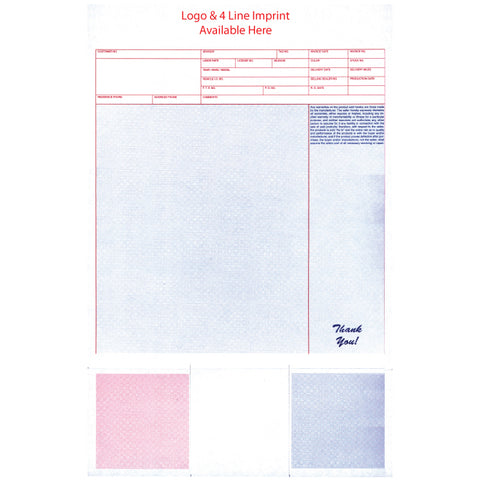 Laser Service Invoices with Coupons - LZR-SI-14 - Imprinted - Qty. 500 - Independent Dealer Services