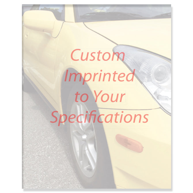 Laser Cut Sheet - Car Screen -  8.5 x 11- 20# - Imprinted - Qty. 500 - Independent Dealer Services