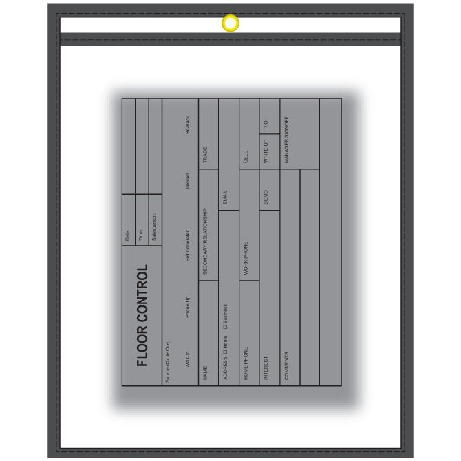 WorkTicket Holder - Front & Back Qty. 5 - Independent Dealer Services