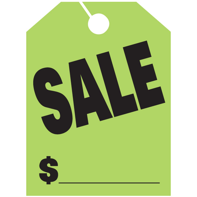 Hang Tags - Sale - Large - Qty. 50 - Independent Dealer Services