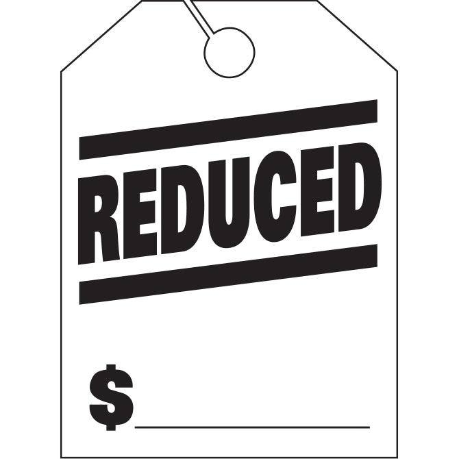 Hang Tags - Reduced - Large - Qty. 50 - Independent Dealer Services