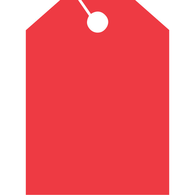 Hang Tags - Blank - Large - Qty. 50 - Independent Dealer Services