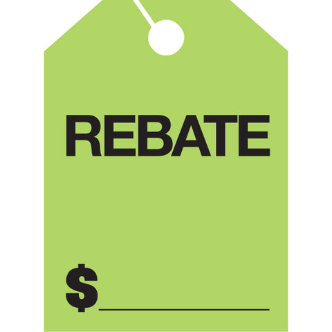 Hang Tags - Rebate - Large - Qty. 50 - Independent Dealer Services