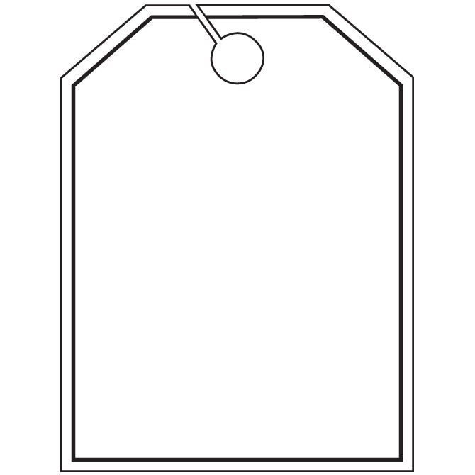 Hang Tags - Blank with Black Frame - Large - Qty. 50 - Independent Dealer Services