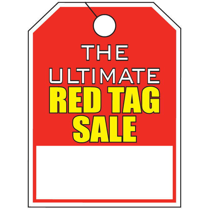 "Hang Tag - The Ultimate Red Tag Sale - 8.5"" x 11.5"" - Qty. 50 - Independent Dealer Services"