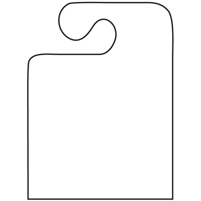 J-Hook Hang Tags - Blank - Large - Qty. 50 - Independent Dealer Services