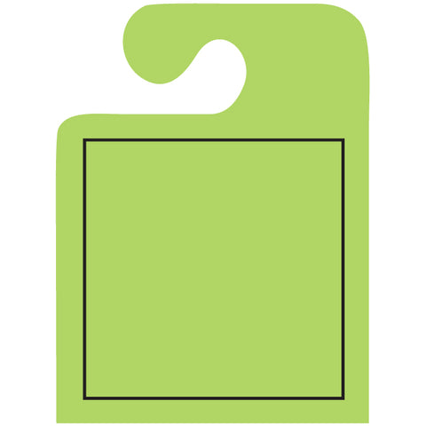 J-Hook Hang Tags - Blank with Black Frame - Large - Qty. 50 - Independent Dealer Services