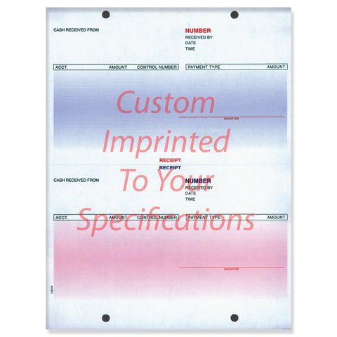 Laser Cash Receipt, Pre Printed - LZR-CR - Imprinted - Qty. 500 - Independent Dealer Services
