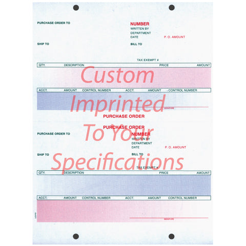 Laser Purchase Order, Pre Printed - LZR-PO - Imprinted - Qty. 500 - Independent Dealer Services