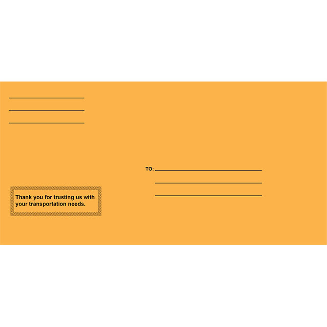 License Plate Envelope - Printed - Moist & Seal - Qty. 100 - Independent Dealer Services