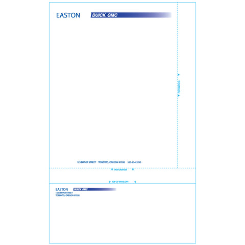 Combination Letterhead /Envelope - Custom - Qty. 500 - Independent Dealer Services