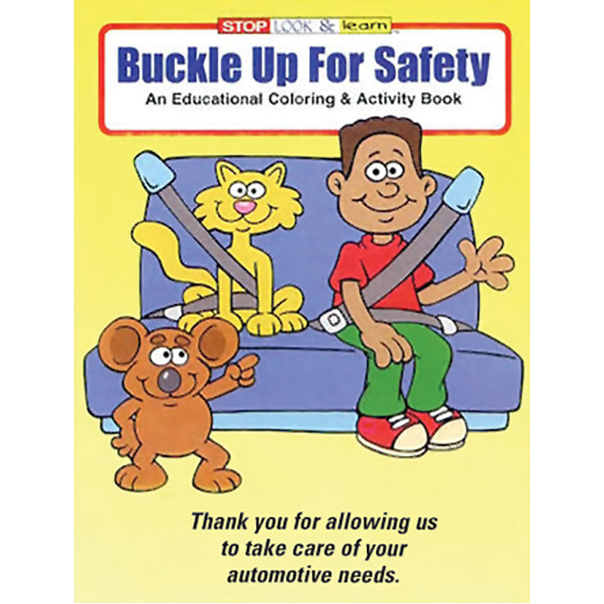 Coloring Book - Buckle Up - Qty. 50 - Independent Dealer Services