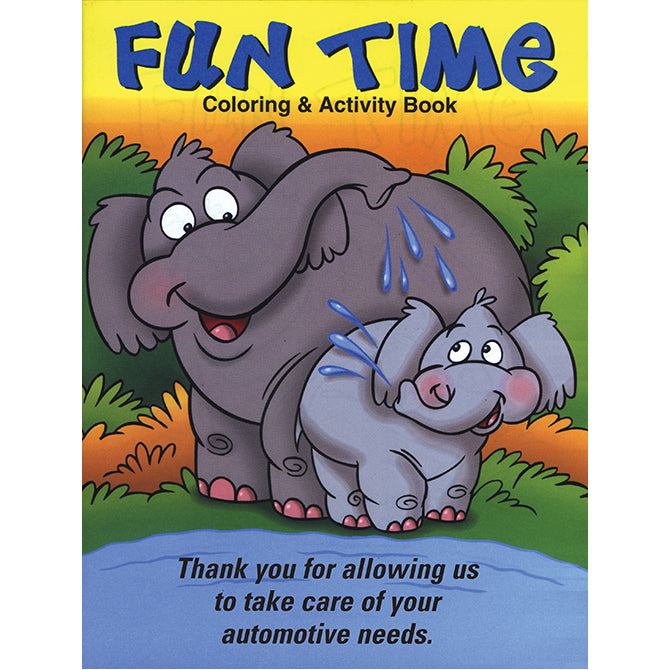Coloring Book - Fun Time - Qty. 50 - Independent Dealer Services