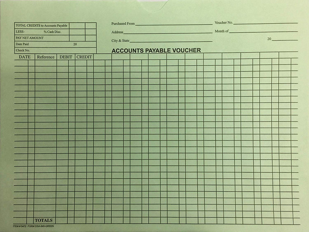 Accounts Payable Voucher Env. - DSA-540 - Qty. 500 - Independent Dealer Services
