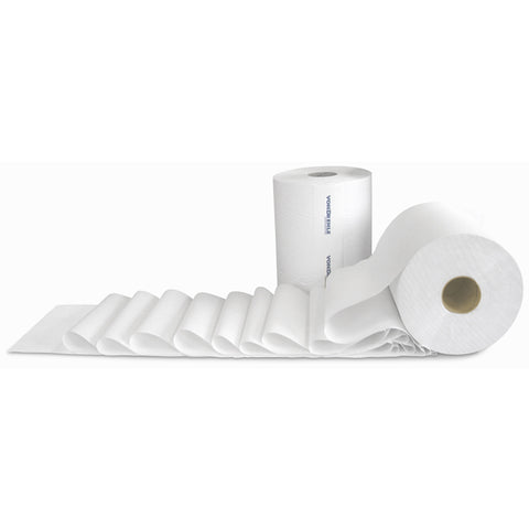 White Roll Towel - 800' Per Roll - 6 Rolls - Qty. 1 Case - Independent Dealer Services