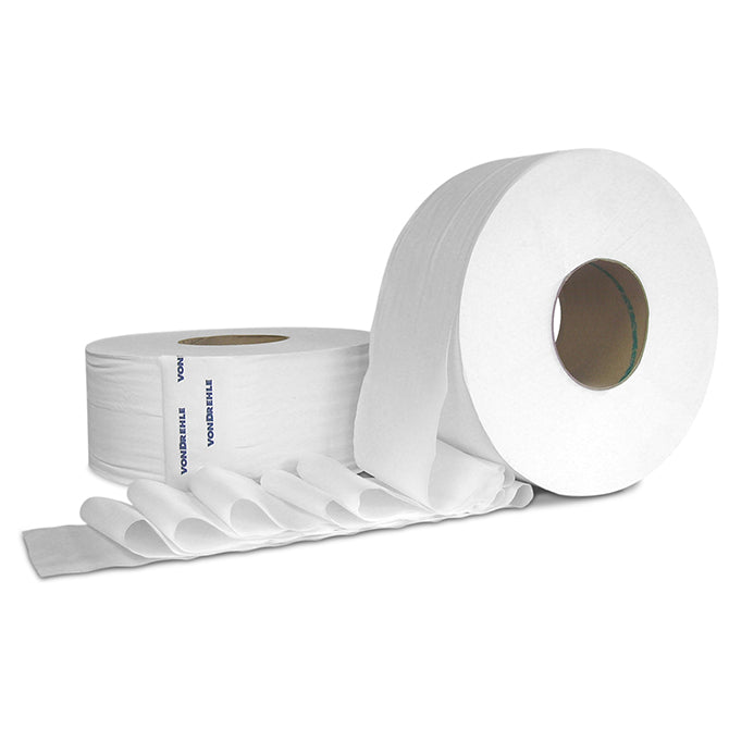 Jumbo Roll Toilet Paper - 1000' Per Roll- 8 Rolls - Qty. 1 Case - Independent Dealer Services