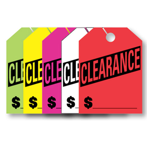 Hang Tags - Clearance - Large - Qty. 50 - Independent Dealer Services
