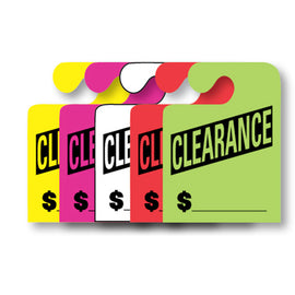 J-Hook Hang Tags - Clearance - Large - Qty. 50 - Independent Dealer Services