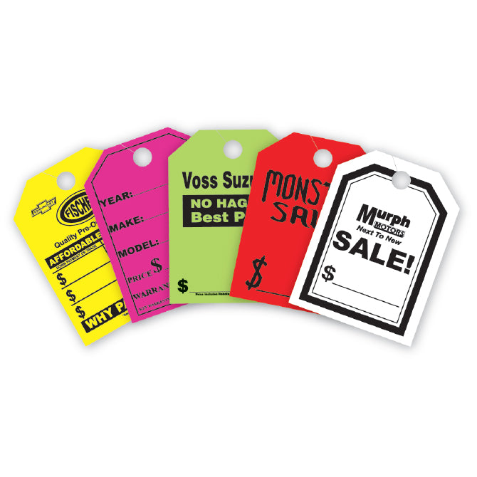 "Hang Tags - JUMBO - Custom - 8.5"" x 11.5"" - Qty. 100 - Independent Dealer Services"